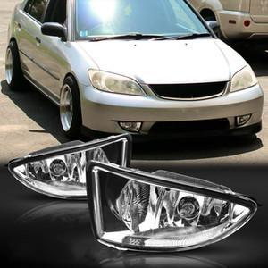 Auto OEM Style direkt Wiedereinbau Nebel-Lampen-Lichter w / Birne + Switch + Wire + Bezel / 1Set 2004-2005 Honda Civic