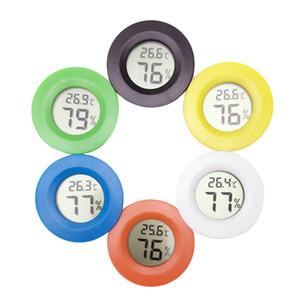 Mini Dijital LCD Termometre Higrometre Buzdolabı - Derin dondurucu Sıcaklık higrometre Dedektör Yuvarlak Elektronik Termometre Hydrange
