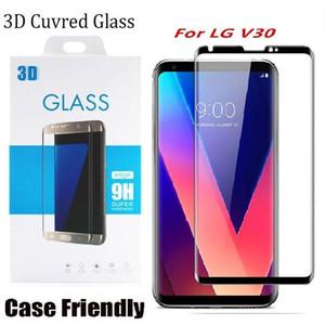 Tela 3D Curved Versão Para LG V30 Caso amigável vidro temperado Protector Para LG V30 Com pacote de varejo