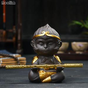 NOOLIM الصينية بيربل كلاي الكونغ فو مجموعة الشاي الملك القرد الشاي الحيوانات الأليفة للمنزل علبة شاي الديكور T200330