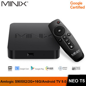 MINIX NEO T5 TV BOX AMLogic نوع S905X2 2G 16G جهاز Chromecast الذكية TV BOX 4K فائقة HD TV الروبوت 9.0 فطيرة وسائل الإعلام محور
