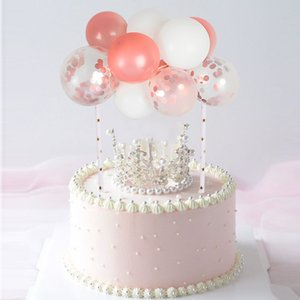1Set 10Pcs 5inch DIY Mini Balloon Cake Topper Birthday Party Decoration Baby Shower Wedding Party Cake Decor Supplies