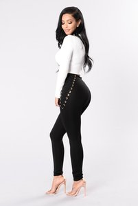Hirigin Leggings Casual New taille haute épais jeggings extensible Pantalon Skinny Noir Blanc