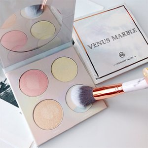 New Makeup Venus Marble 4 colori Contouring Highlighter Kit Pearl Mother Color Brighten Highlighter Palette Spedizione gratuita