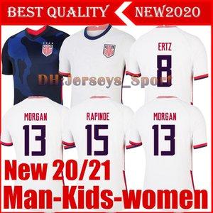 4 stelle 2020 2021 PULISIC maglia da calcio 20 21 DEMPSEY Morgan Rapinoe LLOYD Ertz dell'America uomo bambini calcio camicie Stati Uniti S-XXL