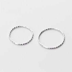925 plata esterlina simple fino delicado anillo del nudillo Midi pura joyería de plata del boda del compromiso de la moda China importación al por mayor de joyas
