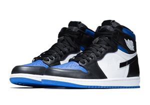 Melhores Jordon 1 Royal Toe sapatos de crianças para venda Com Box 2020 Tie Dye Mid Multicolor Tribunal roxo Basketball loja de sapatos US4-US12