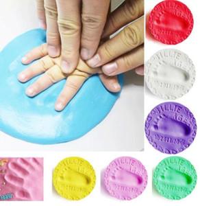 Pegada do bebê estéreo ultra light Baby Care secagem do ar suave bebê argila mão-pé Imprint Kit Fundição DIY Brinquedos pata 30g almofada de impressão