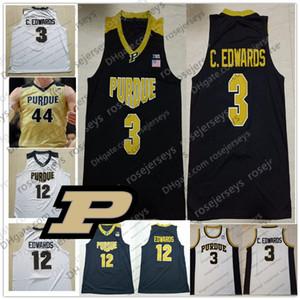 Personalizado Purdue Boilermakers 2020 Basketball faz Número Nome # 3 Carsen Edwards Kid Homens 32 Matt Haarms Preto Ouro Branco Juventude Jersey 4XL