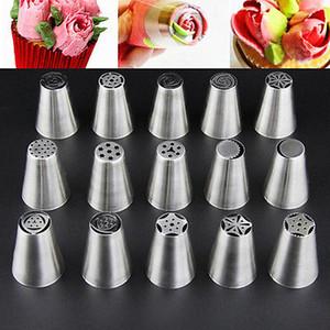 17pc Tulipe russe fleur Glaçage Piping gâteau décoration Conseils Nozzles Outils de cuisson