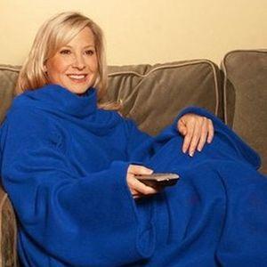 6 Couleurs Doux Chaud Couverture Couverture Robes Cape Snuggie Wearable Manches Confortables Coral Fleece Blanket Hiver Couverture Paresseuse TV Couvertures BH2227 CY