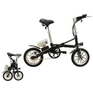 36V250W 14''folding bicicletta elettrica freni a disco con batteria al litio motore brushless e biciclette