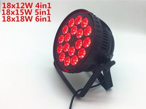 18x12W / 18x15W / 18x18W Led Par Light DMX wash Luces de escenario Business Lights Professional Flat Par Can para fiesta KTV Disco