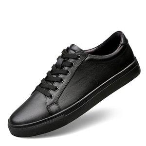 Homens Sneakers de Moda de Nova alta qualidade macia Simples Casual Shoes Men Confortável respirável Ultra-light Couro Sapato branco