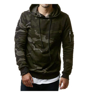 Fashion clothing 2019 autumn and winter men's new classic camouflage casual men's hooded pullover sweater windproof warm Sweatshirts