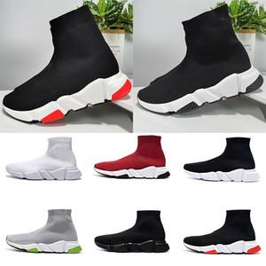 Balenciaga Sock shoes Luxury Brand Designer shoes Speed formateur plateforme Casual de chaussettes triple rouge Bule hommes blancs la taille de la mode de sport 36-47