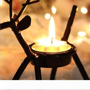 New Festive Christmas Candle Holders Creative European Iron Art Deer Candlestick Christmas Decorations And Gifts