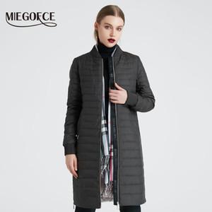 Primavera cappotto di MIEGOFCE 2020 nuova delle donne con la giacca da donna Donne sciarpa collare del basamento sezione sottile di cotone Abito firmato Nuovo