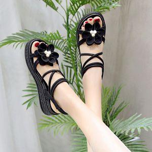 Med 2020 Summer Beige Heeled Sandals Sale Of Women's Shoes Wedge Medium Ladies Black With Gladiator Sandals Women Lady