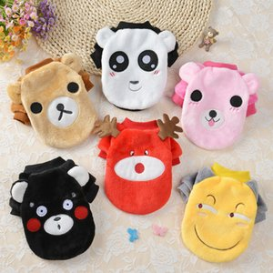 Pet Autumn and Winter Clothing New Flannel Sweater Cartoon Cute Cat Teddy Small and Medium Dogs Pets Clothes