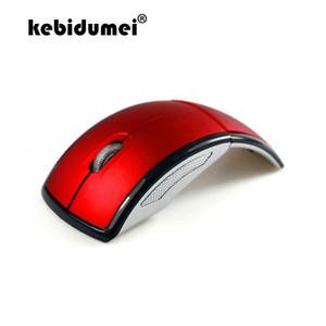 Cheap Mice kebidumei 2.4G беспроводной Складная мышь компьютера Mini Travel Notebook Mute мышь USB приемник для портативных ПК