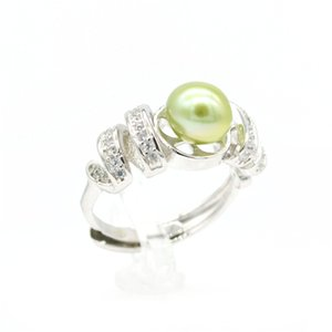 Handgefertigter hochwertiger versilberter einzigartiger Ring mit 7-8 mm Perle, verstellbar für Ihre Perlenausternparty