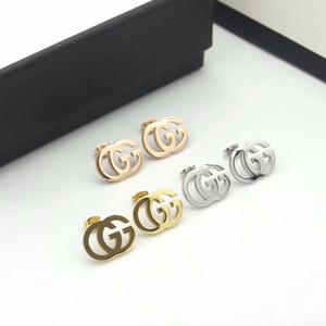 Simples Top Quality Brincos Aço Inoxidável Cor Gold Pearl G Brinco de Ouro Prata Ear Studs Wedding Party Mulheres Para Jóias