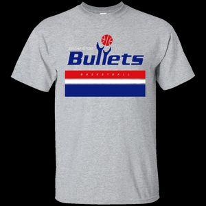 Balas de Washington Retro Basketball Atacado Desconto Jersey Logotipo T-shirt Legal Casual Orgulho T Shirt Dos Homens Unisex Moda Tshirt