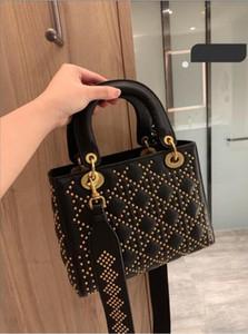 Classic Vintage Rivet borse in vera pelle nappa borse totes spalla borse del messaggero delle donne borsa crossbody borse portafoglio