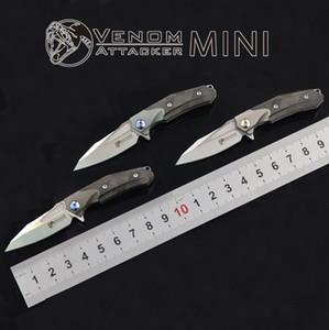 VENOM MINI couteau de poche M390 lame titane couteaux pliants Survival tactique chasse couteau de chasse EDC
