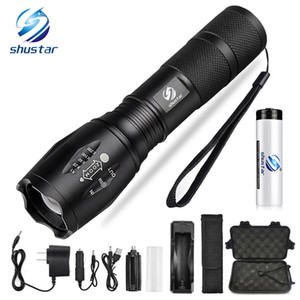 Led flashlight Ultra Bright torch T6 L2 V6 Camping light 5 switch Modes 10000 LM Zoomable Bicycle Light use 18650 battery