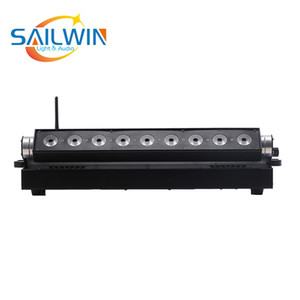 9x18w RGBAW UV wireless Dmx Battery Operated Led Light Bar 6 in1 Led Wall Washer