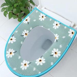 Toilet Seat Cover comodi sedili morbidi toilette Pad Accessori Bagno addensare Warmer Zipper Washable igienici copertina