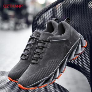 새로운 2018 봄 패션 남성 캐주얼 신발 가죽 신발 남성 스니커즈 블레이드 신발 통기성 Krasovki 트레이너 높은 스웨이드