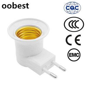 E27 220v Titular Segurança EU Plug luz pode Inclinação Eu Lamp Com comutação Rodada Pé Wall Tipo Móvel Base da lâmpada