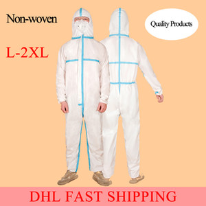 DHL Fast Shipping Protection Disposable Protective Isolation Dustproof Coverall Non-Woven Anti-fog Anti-particle Isolation Suit Waterproof