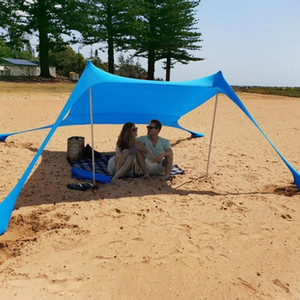 Large Tent Outdoor Family Beach Sunshade Lightweight Tent UPF50+UV Portable Canopy Parks Outdoor Waterproof Camping Hiking Tents T191001