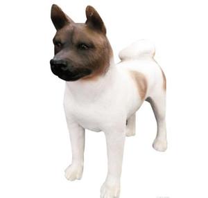 اليابانية اكيتا الكلب تمثال اليد الحرف الراتنج الكلب تمثال منحوت تمثال مع الراتنجات لديكور غرفة