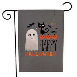 Horrible Halloween Garden Flag Welcome Sign Hanging Garden Banner Double-sided Printing Dress Up Party Home Lawn Decor