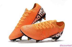 Para hombre de baja del tobillo botas de fútbol Mercurial vapores 13 Elite SG-PRO zapatos de fútbol AC Superfly Vapores XIII SG 360 ACC Tacos de fútbol al aire libre
