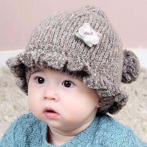 Boys And Girls Baby Children Cute Soft Wool Hat Scarf Mask Warm