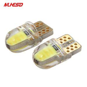 10 adet LED W5W T10 194 168 W5W COB 8SMD Led Park Ampul Otomatik Kama Gümrükleme Lambası CANBUS Silika Parlak Beyaz Lisans ampuller