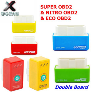 Süper OBD2 NitroOBD ECO OBD2 için dizel / Benzin Otomobil NitroOBD2 Chip Tuning Kutusu Fazla Güç Tork Nitro OBD Tak Sürücü Nitro