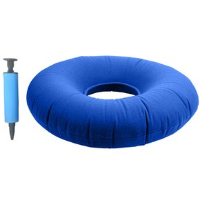 14 Inch Inflatable Donut Seat Cushion, Hemorrhoid Bedsore Back Tailbone Relief Pillow - Deep Blue