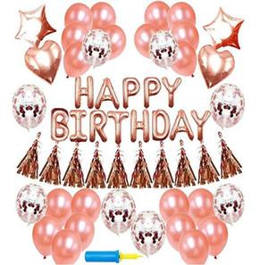 happy birthday balloon sets kids toys balloons New wedding Decor High Quality Air Balls Free Shipping