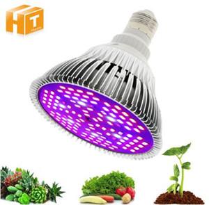 Полный спектр светодиодный светодиодный лампочку 10 Вт 30 Вт 50 Вт 80 Вт красный синий UV ИК светодиодные лампы для гидропоники цветы растения овощи