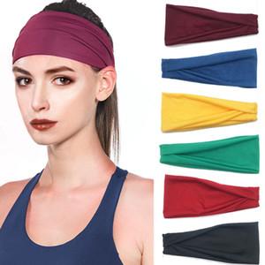 Commercio all'ingrosso nuovo tratto donne degli uomini cotone puro sudore Colore Sport Sweatband fascia di yoga di ginnastica Fittness Head Band