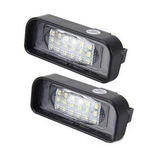 벤츠 W220 번호판에 대한 2PCS 18SMD LED 번호판 조명 램프는 램프 자동차 스타일링을 점등