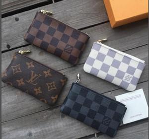 Francia diseñador de los hombres bolsa de la moneda estilo de las mujeres de cuero de la señora del monedero de la moneda clave de la cartera de mini monedero número de serie bolsa de polvo