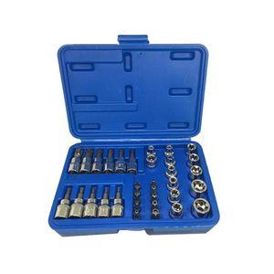 34Pcs set E4-E20 E Type Bit Sockets Wrench Head T10-T6010-55 Torx Star Sleeve Set Auto Repair Hand Tools